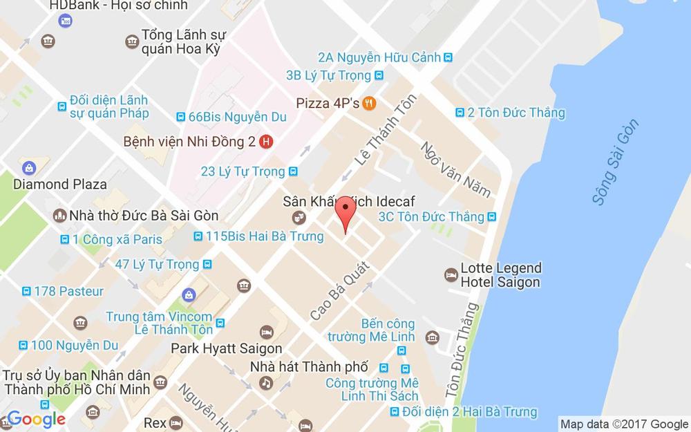 Vị trí bản đồ 8A/11D1 Thái Văn Lung, P. Bến Nghé Quận 1 TP. HCM