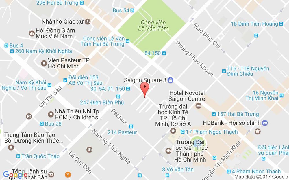 Vị trí bản đồ 43 Phạm Ngọc Thạch, P. 6 Quận 3 TP. HCM