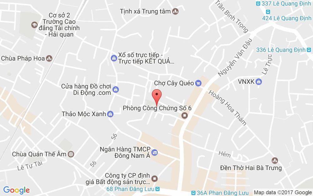 Vị trí bản đồ 47/55 Nguyễn Văn Đậu, P. 6 Quận Bình Thạnh TP. HCM