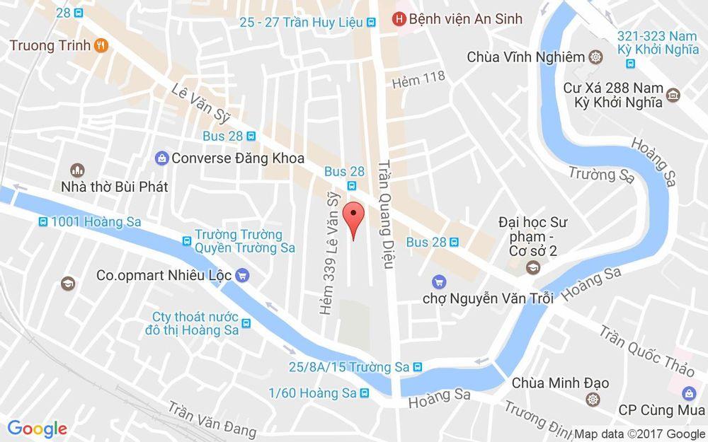 Vị trí bản đồ 323 Lê Văn Sỹ, P. 13 Quận 3 TP. HCM