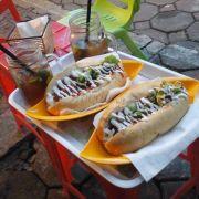 hotdog thường và trà quất ~