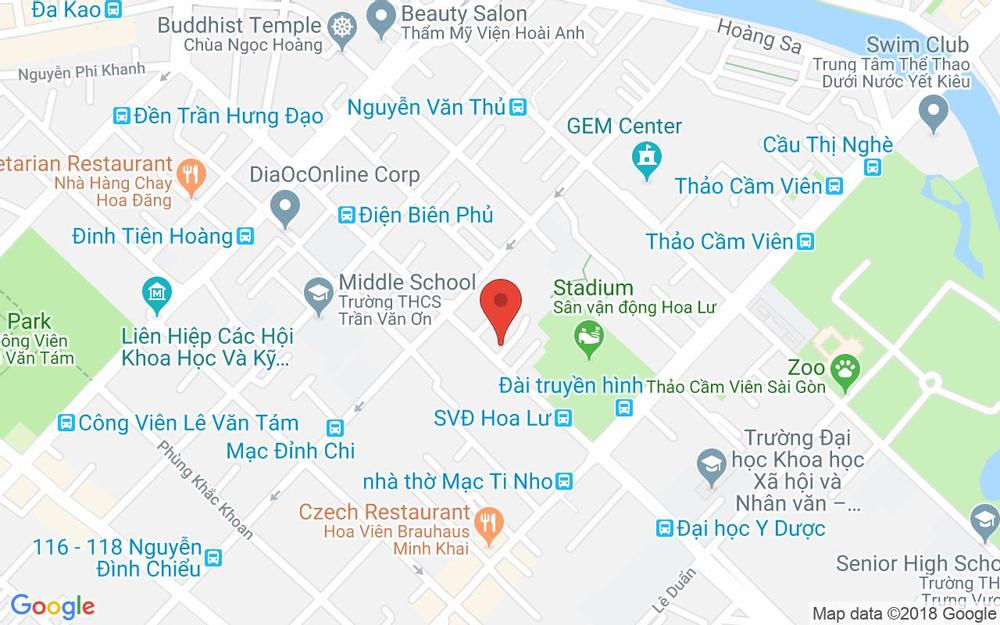 Vị trí bản đồ Fruit Station - Đinh Tiên Hoàng ở TP. HCM