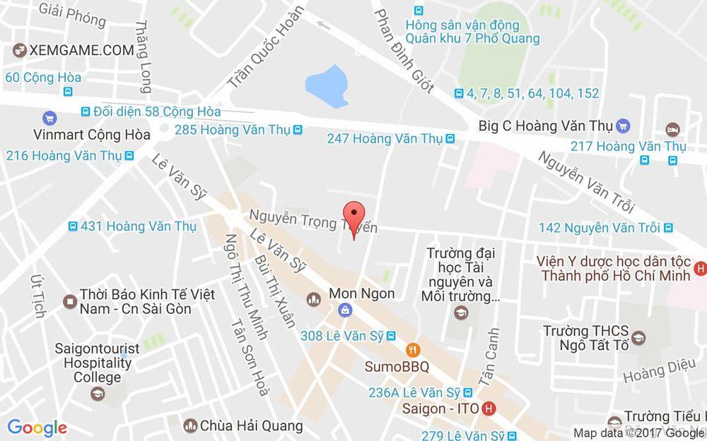 Vị trí bản đồ 12 Phạm Văn Hai, P. 2 Quận Tân Bình TP. HCM