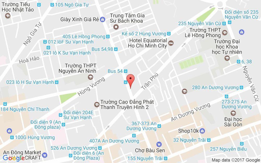 Vị trí bản đồ 266 - 268 Lê Hồng Phong, P. 4 Quận 5 TP. HCM