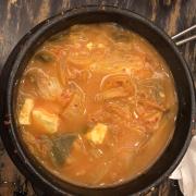 Canh kim chi cá ngừ