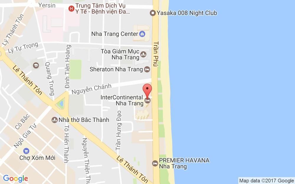 Vị trí bản đồ Tầng 1, Intercontinental Nha Trang Hotel, 32 - 34 Trần Phú Tp. Nha Trang Khánh Hoà