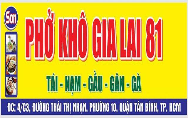 Phở Sơn - Phở Khô Gia Lai