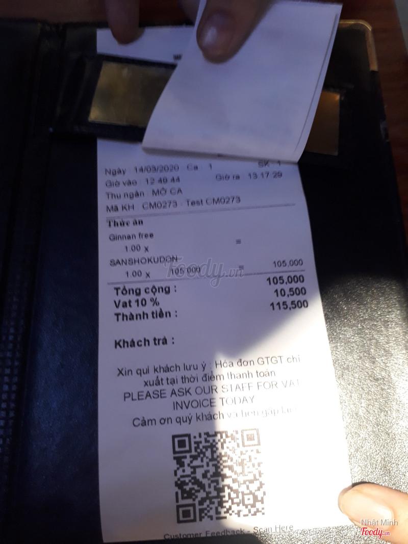 Total Bill (include VAT 10%)