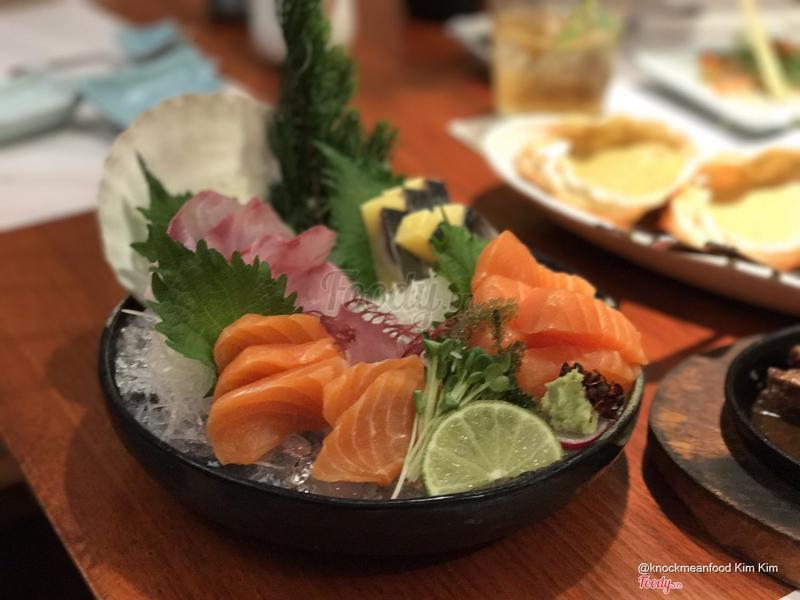 Cá hồi sashimi + cá ép trứng + cá mới theo mùa