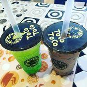 Trà Xanh Kiwi Chanh Leo Thạch Matcha vs Trà Sữa Kim Cương Đen.
