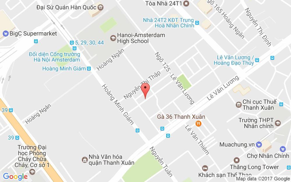 Vị trí bản đồ N8B Hoàng Minh Giám Quận Thanh Xuân Hà Nội