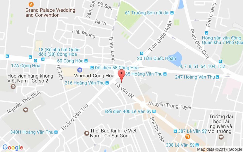 Vị trí bản đồ 361 - 363 Hoàng Văn Thụ, P. 2 Quận Tân Bình TP. HCM