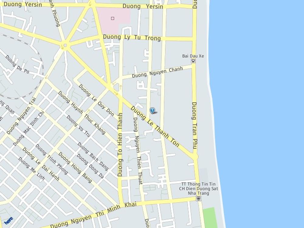 Vị trí bản đồ 17H Hoàng Hoa Thám Tp. Nha Trang Khánh Hoà