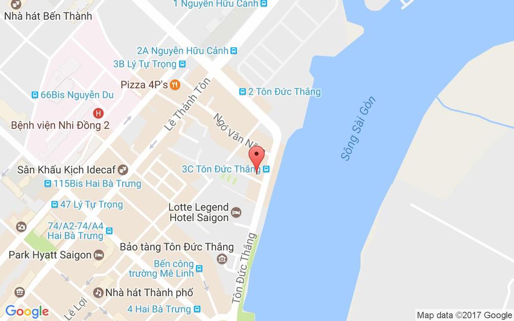 Vị trí bản đồ 3C Tôn Đức Thắng, P. Bến Nghé Quận 1 TP. HCM