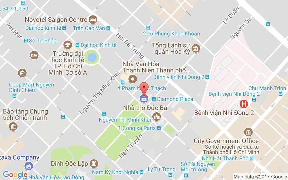 Vị trí bản đồ Diamond Plaza, 34 Lê Duẩn, P. Bến Nghé Quận 1 TP. HCM