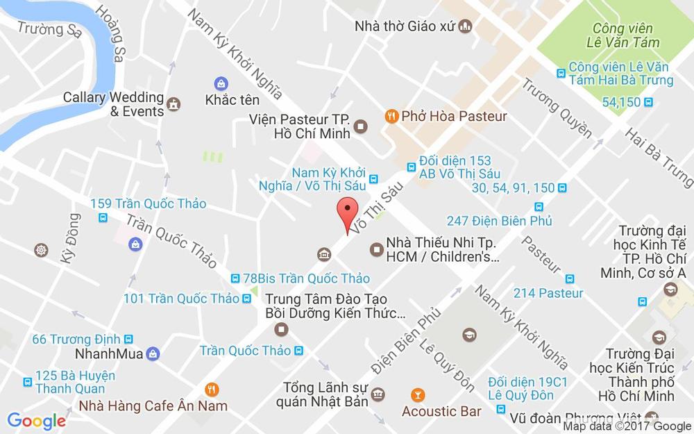 Vị trí bản đồ 187 Võ Thị Sáu, P. 7 Quận 3 TP. HCM