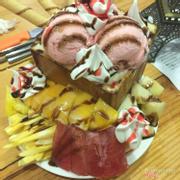 bánh toast kem hoa quả tươi