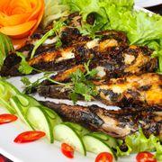 Cá mang ếch nướng muối ớt