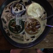 Bánh flan 4 mùi : phô mai việt quốc lá dứa trà xanh