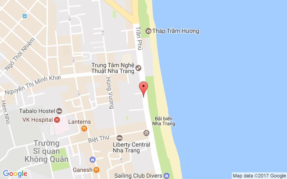 Vị trí bản đồ 52 Trần Phú Tp. Nha Trang Khánh Hoà