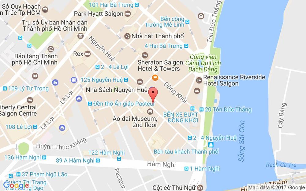Vị trí bản đồ Sài Gòn Quận 1 TP. HCM