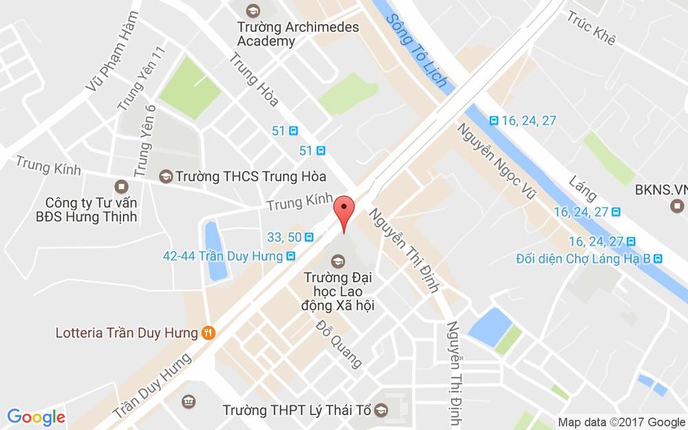 Vị trí bản đồ 43 Trần Duy Hưng Quận Cầu Giấy Hà Nội