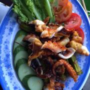 bạch tuộc nướng