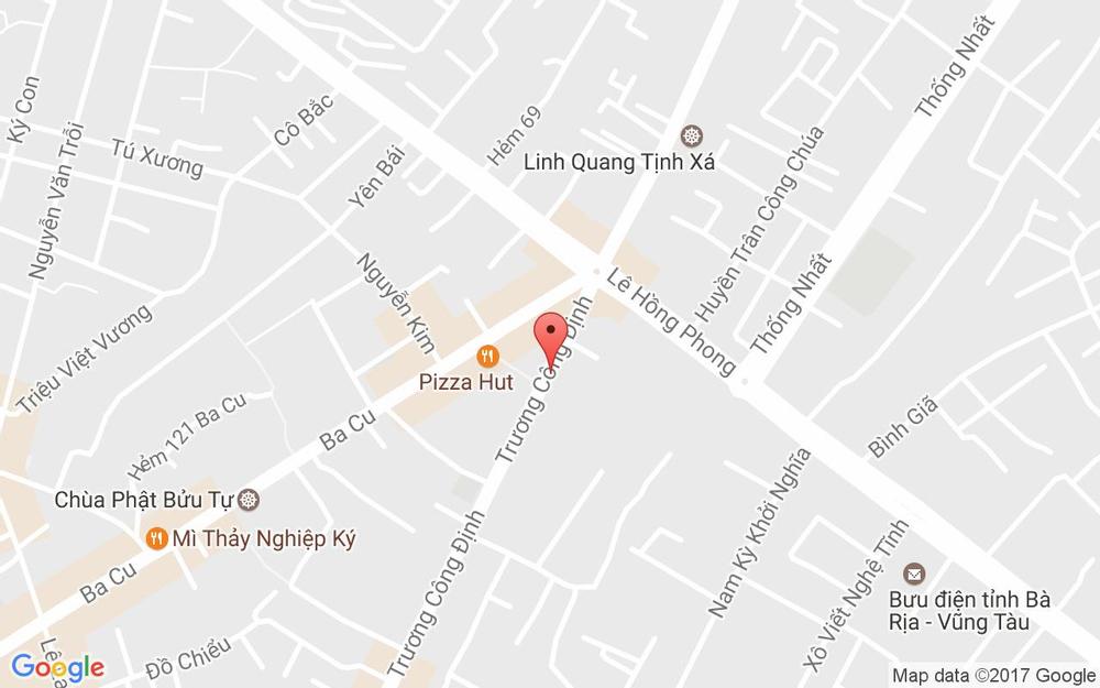Vị trí bản đồ Khách Sạn Hải Đăng - Trương Công Định ở Vũng Tàu