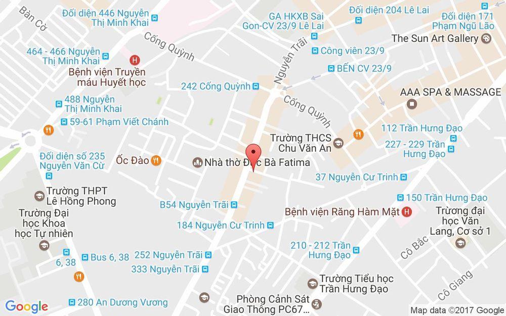 Vị trí bản đồ 257A Nguyễn Trãi, P. Nguyễn Cư Trinh Quận 1 TP. HCM