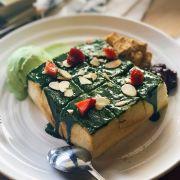 bánh toast trà xanh