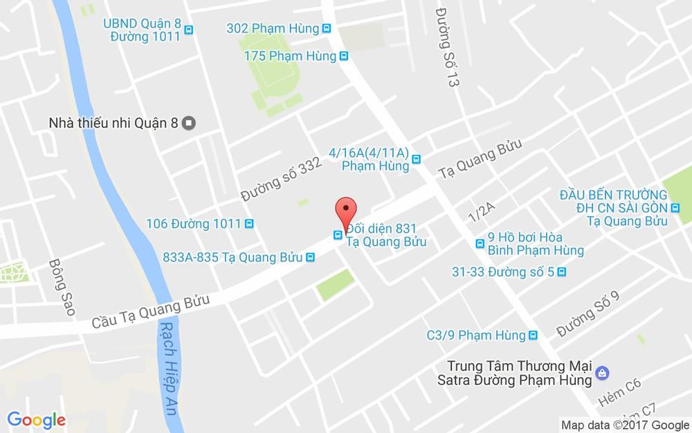 Vị trí bản đồ 811 Tạ Quang Bửu, P. 5 Quận 8 TP. HCM