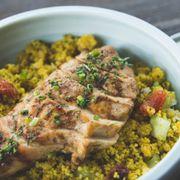 Mediterranean couscous salad with glazed chicken- Gà nướng kèm couscous salad Địa Trung Hải