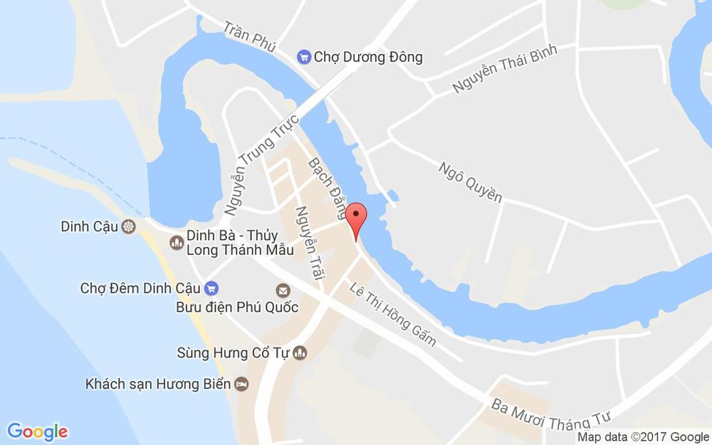 Vị trí bản đồ Chợ Đêm Phú Quốc ở Phú Quốc