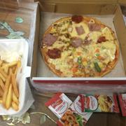 pizza thập cẩm & chip