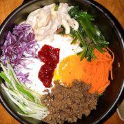 Cơm trộn Bulgogi - thịt siêu khô và không có vị gì hết. Các thành phần khác cũng vậy.