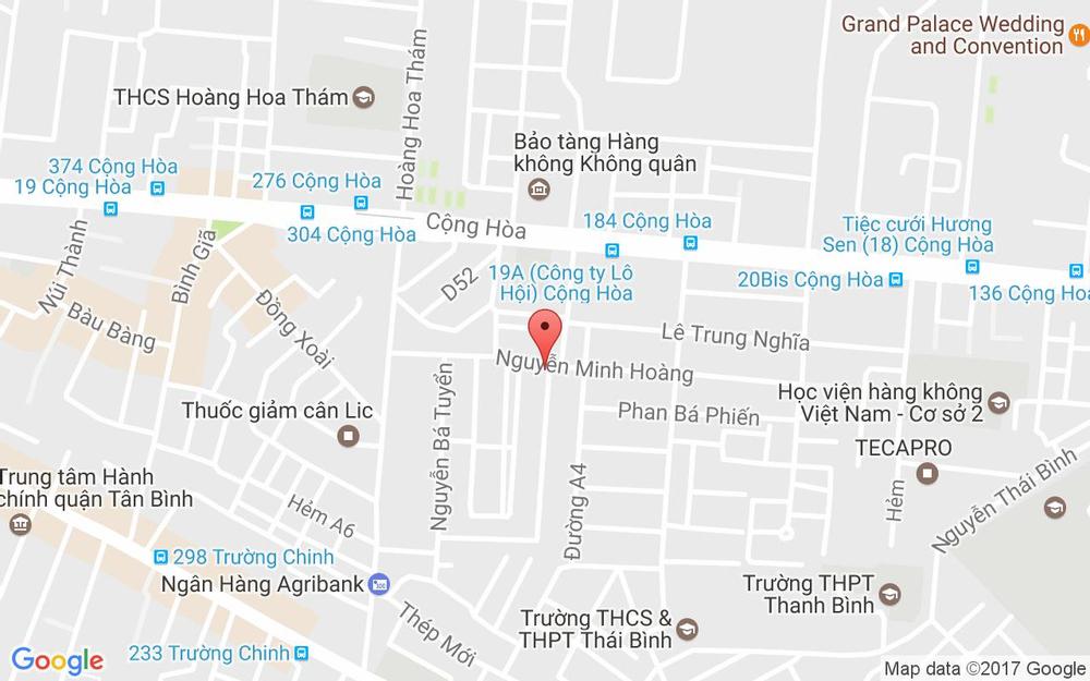 Vị trí bản đồ 58/79 Nguyễn Minh Hoàng, P. 12 Quận Tân Bình TP. HCM