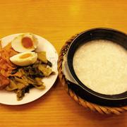 Cháo cá, trứng mặn calathau. Nghiện món calathau ở đây
