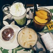 Trà sữa Oolong - Trà đào - Matcha Ice Blended + Whipping Cream - Tiramisu