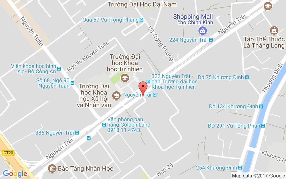 Vị trí bản đồ 45 Nguyễn Trãi Quận Thanh Xuân Hà Nội