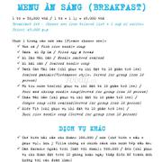 menu villa Đảo Hoa Vàng, 0901350662