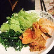 Rau và kimchi