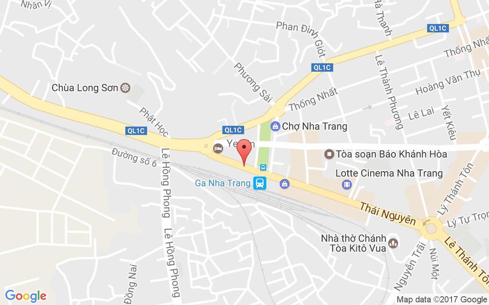 Vị trí bản đồ 40 Thái Nguyên Tp. Nha Trang Khánh Hoà