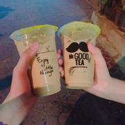 Trà sữa double tea + trân châu trắng