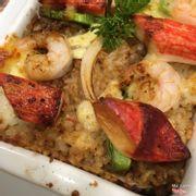 Cơm hải sản bỏ lò sốt tiêu đen