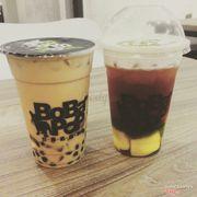 trà sữa + trà đào