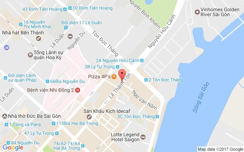 Vị trí bản đồ 10A Lê Thánh Tôn, P. Bến Nghé Quận 1 TP. HCM
