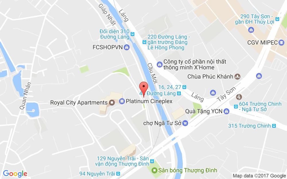 Vị trí bản đồ 105 Giáp Nhất Quận Thanh Xuân Hà Nội