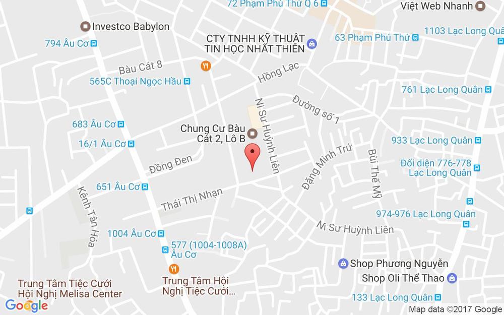 Vị trí bản đồ 2 Lô A, Chung Cư Bàu Cát 2 Quận Tân Bình TP. HCM