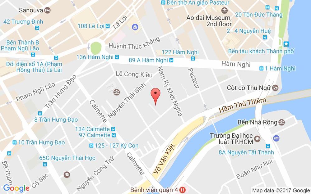 Vị trí bản đồ 158/6 Nguyễn Công Trứ, P. Nguyễn Thái Bình Quận 1 TP. HCM