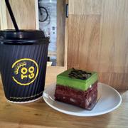 Trà nóng mật ong + green tea chocolate